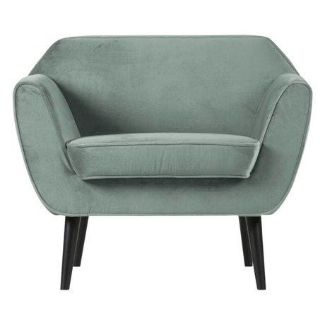 LEF collections Rocco fauteuil velours vert menthe