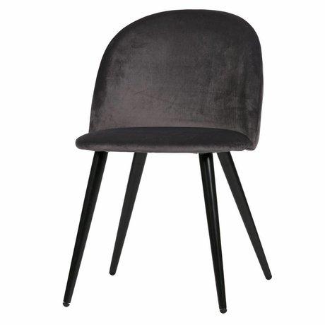LEF collections 2er set - fay esszimmerstuhl velvet antrazit