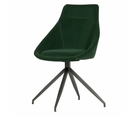 WOOOD Set of 2 - resa swivel velvet green