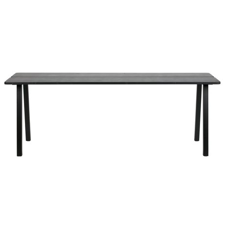 LEF collections Triomf dining table black table top metal black table leg