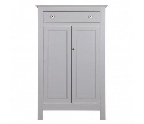 LEF collections Cabinet Eva béton gris pin 93x40x150cm