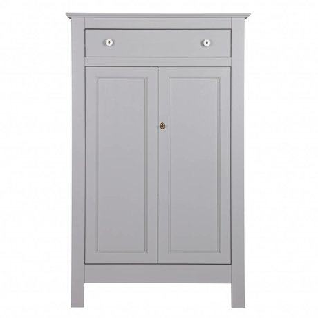 LEF collections Cabinet Eva concrete gray pine 93x40x150cm