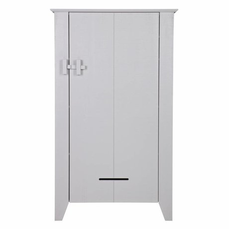 LEF collections Farmhouse cabinet concrete gray gray gray sawn pine 85x38x142cm