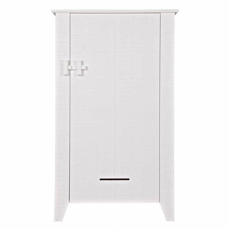LEF collections Cabinet Gijs pin blanc scié 85x38x142cm