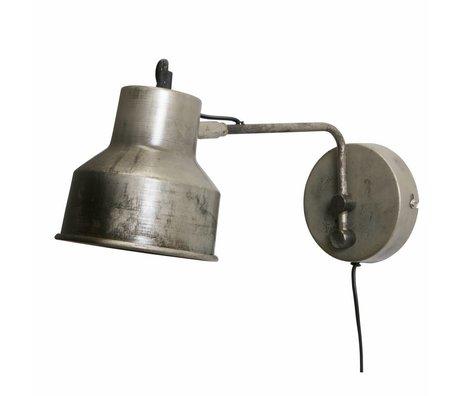 WOOOD Wall lamp Hector antique silvergrey metal 13x14x35cm