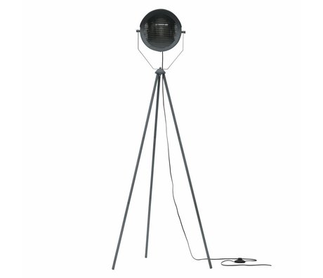WOOOD Lester floor lamp metal concrete gray