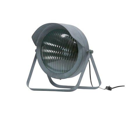 WOOOD Lester tisch lampe metall beton grau