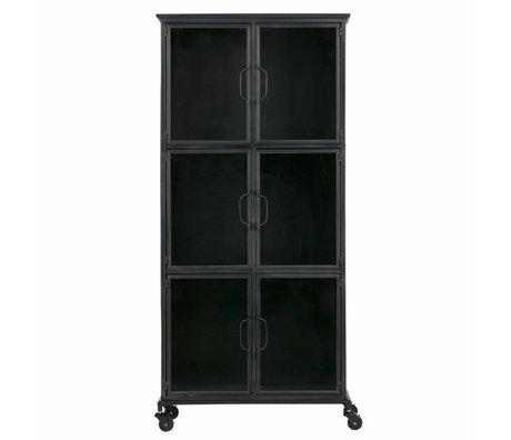 LEF collections Cabinet Jari métal noir 63,5x37,5x142cm