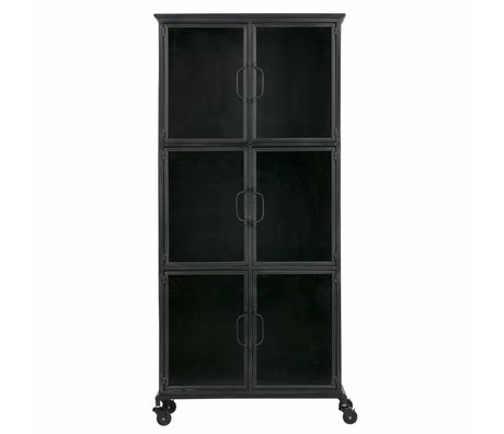 LEF collections Gabinete Jari metal negro 63,5x37,5x142cm