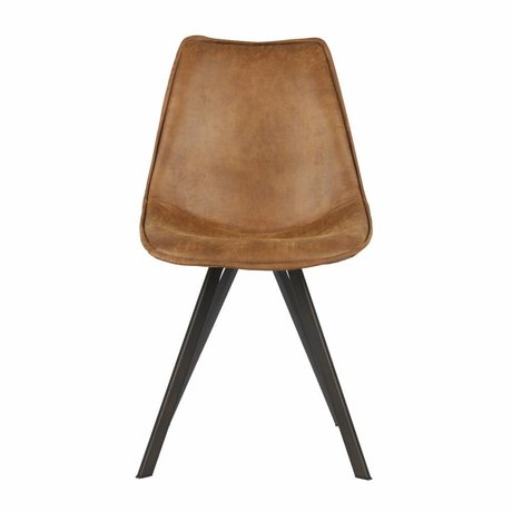 LEF collections Set of 2 swen dining chair cognac