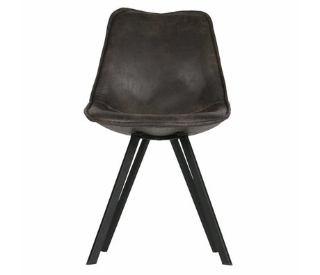 LEF collections Set of 2 swen dining chair vintage black