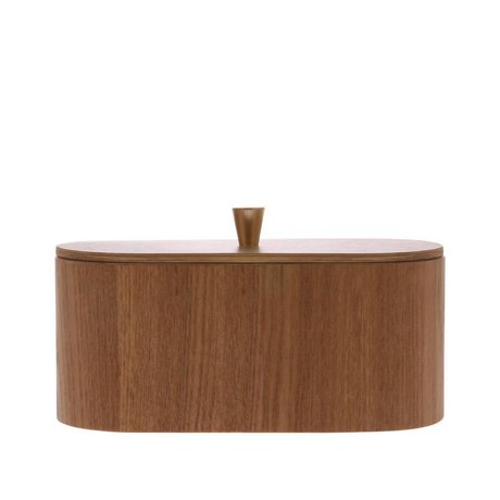 HK-living Vassoio in legno marrone salice 23x11x10cm