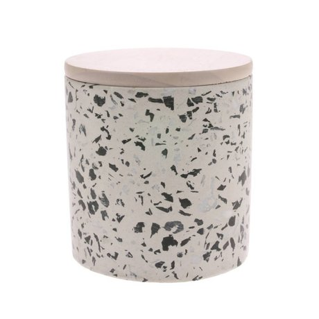 HK-living Scented Candle Terrazzo April multicolored 45 burning hours L Ø13x13x13cm