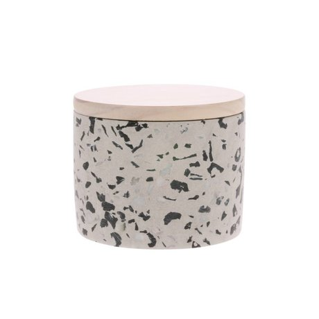 HK-living Scented Candle Terrazzo April multicolour 30 burning hours M Ø11x7,8cm