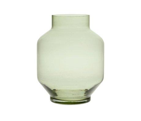 HK-living Jarrón verde vidrio L Ø19,5x25cm