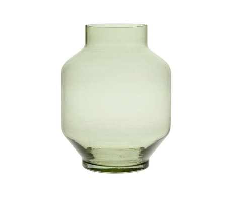 HK-living Vase grønt glas L Ø19,5x25cm