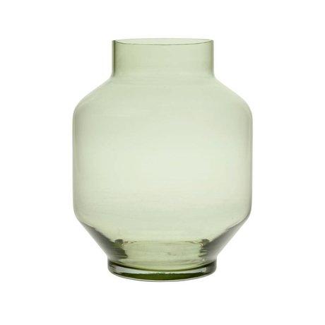 HK-living Vase vert en verre L Ø19,5x25cm