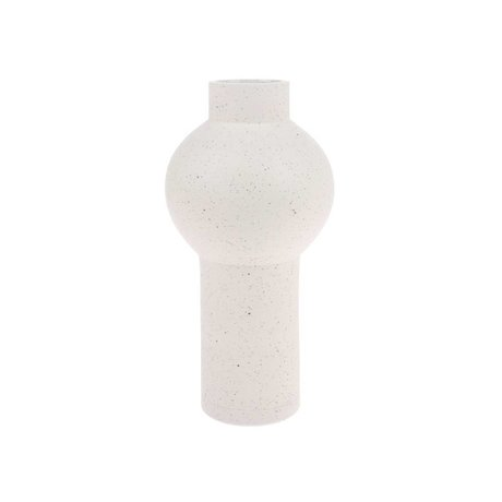 HK-living Vaas Speckled Round Cream con Keramiek M Ø15x30,5cm