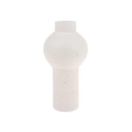 HK-living Vaas Speckled Round Cream med Keramiek M Ø15x30,5cm