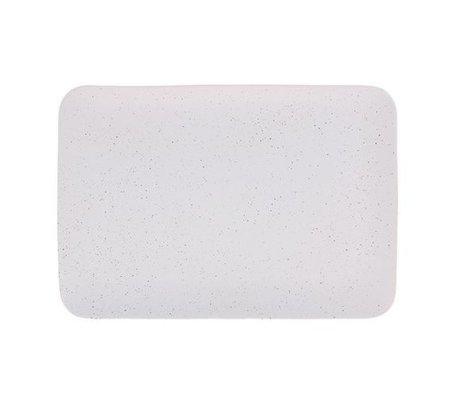 HK-living Plateau Bold & Basic crème en céramique 35x24x3cm
