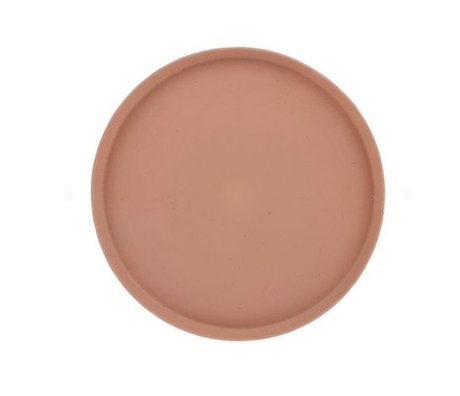 HK-living Bakke Bold & Basic terra orange keramik Ø29x2cm
