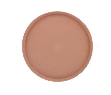 HK-living Tablett Bold & Basic terra orange Keramik Ø29x2cm