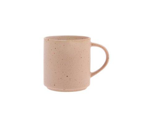 HK-living Taza de café Bold & Basic nude orange cerámica Ø7,4x8cm