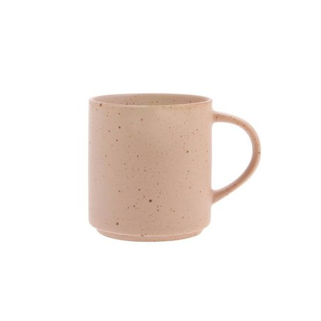 HK-living Kaffeetasse Bold & Basic nackt orange aus Keramik Ø7,4x8cm