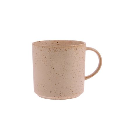 HK-living Teacup Bold & Basic in ceramica arancione nudo Ø9,5x9,5cm