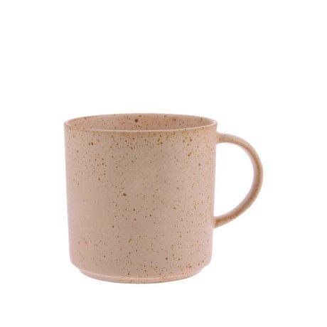 HK-living Taza de té Bold & Basic cerámica naranja desnuda Ø9,5x9,5cm