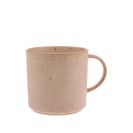 HK-living Teetasse Bold & Basic nackt orange aus Keramik Ø9,5x9,5cm