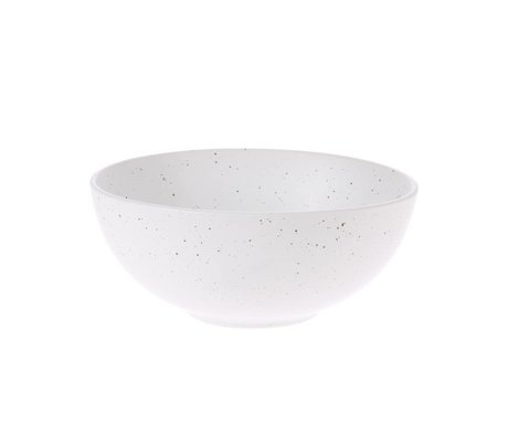 HK-living Bol Bold & Basic en céramique blanche Ø16x6,5cm
