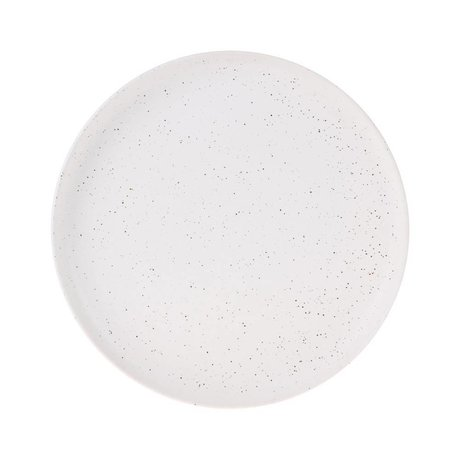 HK-living Breakfast plate Bold & Basic white ceramic Ø21,6x2,3cm