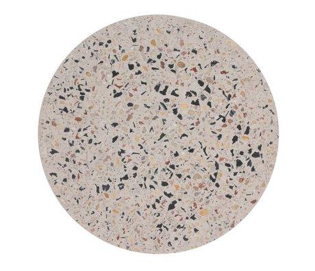 HK-living Dienblad Terrazzo Flerfarvet betonterrasse L Ø30x1,3cm