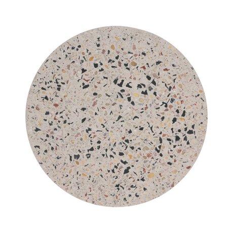 HK-living Vassoio per terrazzo Terrazzo in cemento multicolore M Ø20x1,3cm
