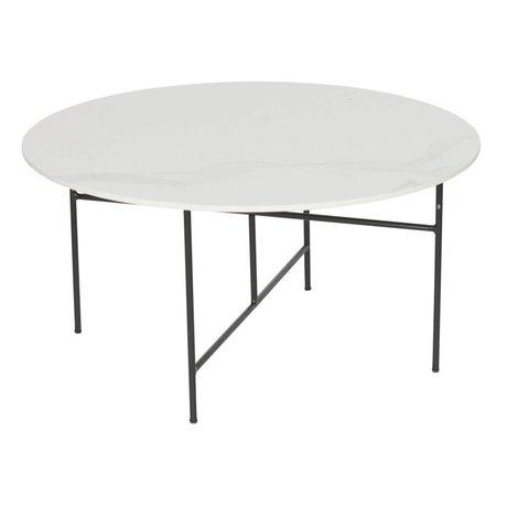 WOOOD Tavolino Vida con piano in marmo bianco 80x40cm
