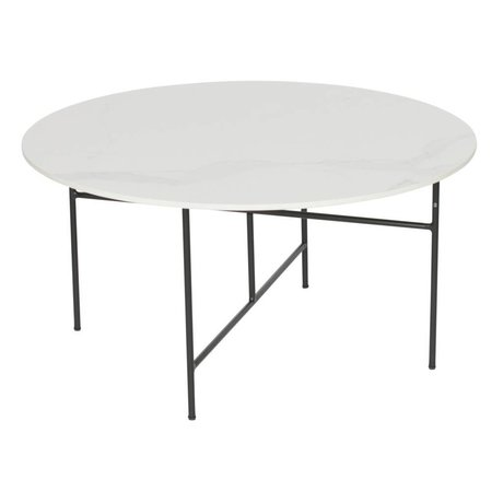 WOOOD Vida sofabord med marmor look top hvid 80x40cm