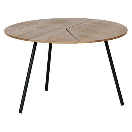 WOOOD Side table Rodi L brown wood metal ø60x38cm