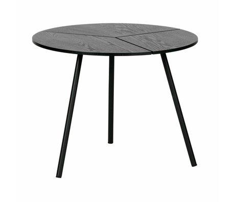WOOOD Table basse Rodi m bois / métal noir ø48x38cm
