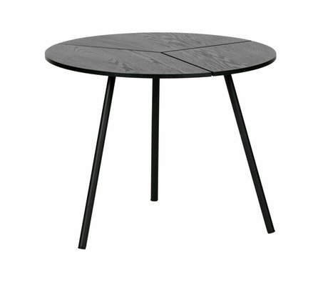 WOOOD Tavolino Rodi m legno / metallo nero ø48x38cm