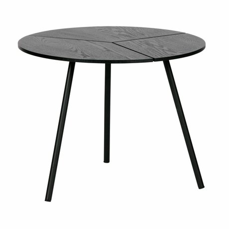 WOOOD Rodi mesa de centro m madera / metal negro ø48x38cm