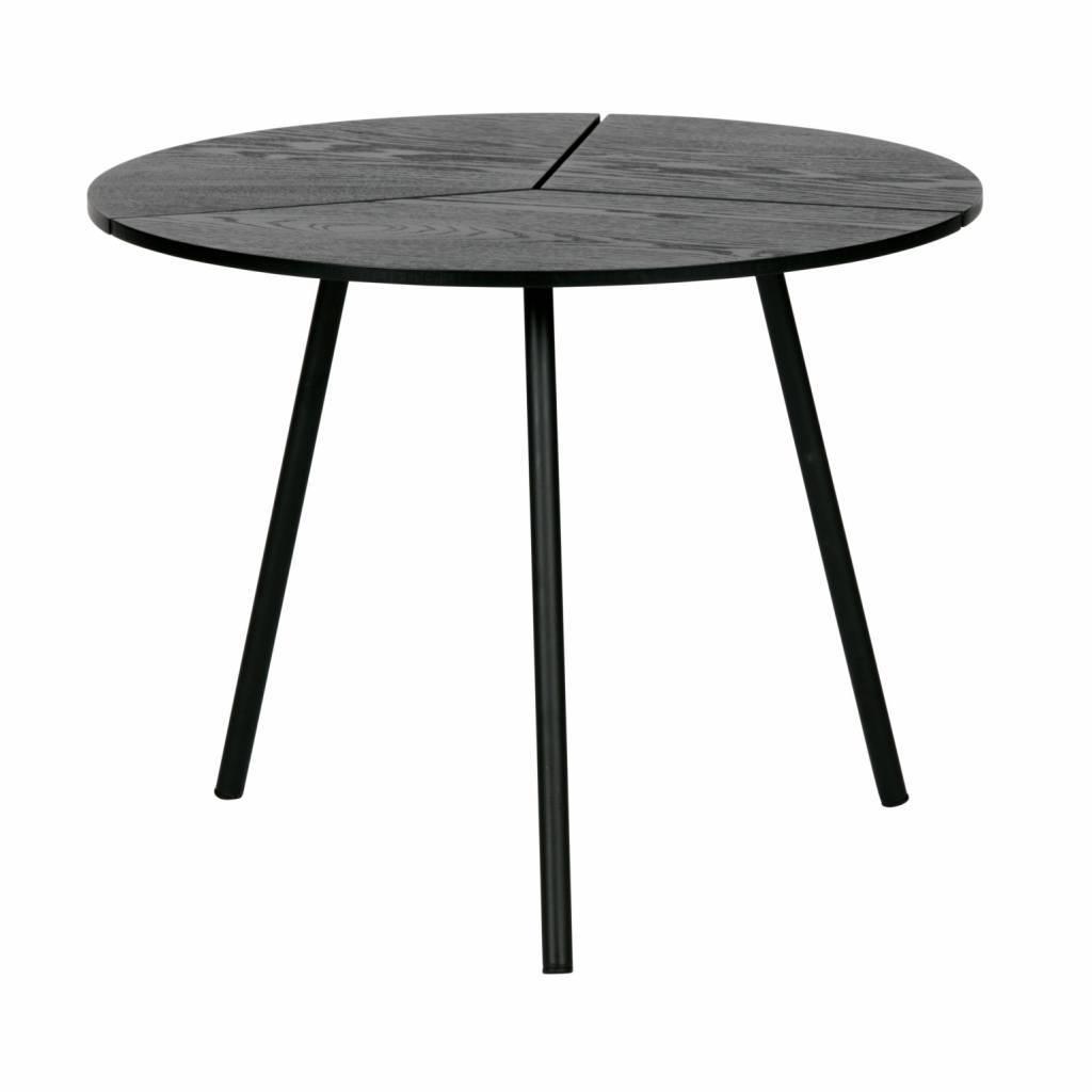- WOOOD Rodi Coffee Table M Wood / Metal Black ø48x38cm - Lefliving.com