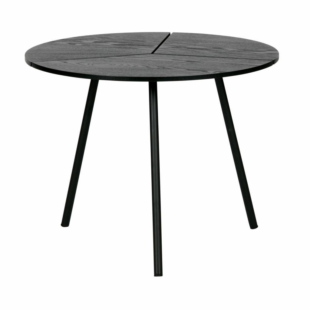 Woood Table Basse Rodi M Bois Metal Noir O48x38cm