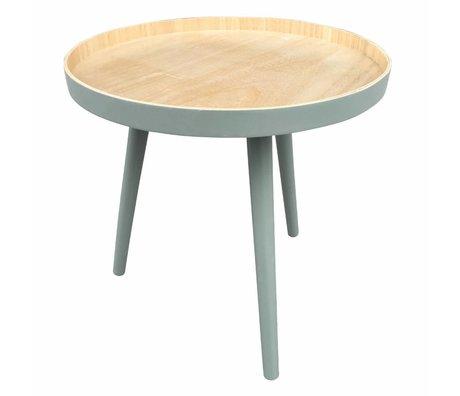 LEF collections Side table Sasha green wood 41x40,5x41cm