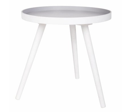 LEF collections Table d'appoint Sasha en bois blanc 41x40,5x41cm