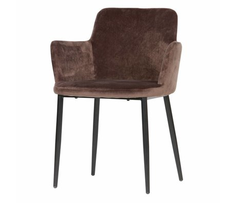 WOOOD Tatum dining chair velvet taupe