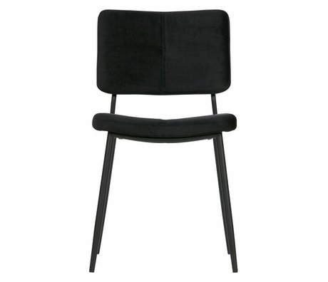 WOOOD 2er set - kaat esszimmerstuhl velvet schwarz