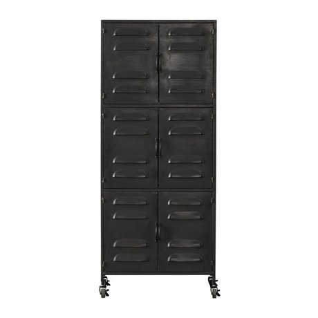 LEF collections Gabinete Boaz metal negro 60x40,5x145,5cm