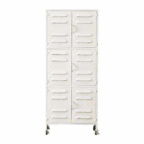 LEF collections Cabinet Boaz white metal 60x40,5x145,5cm