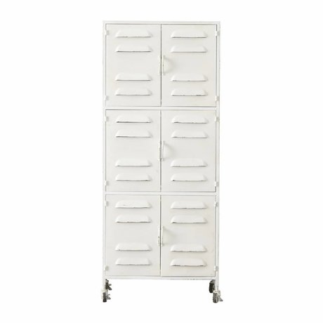 LEF collections Schrank Boaz Weiß metall 60x40,5x145,5cm